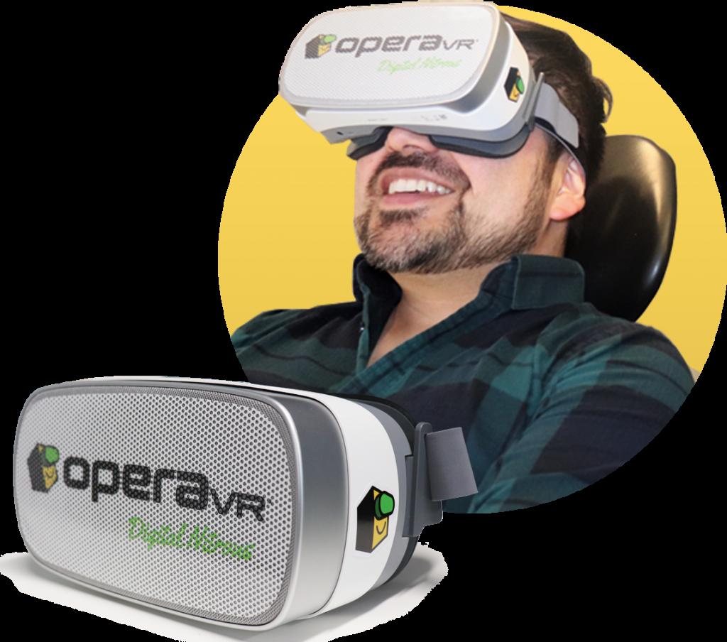 OperaVR Digital Nitrous anxiety melting drug free sedation system for dental offices