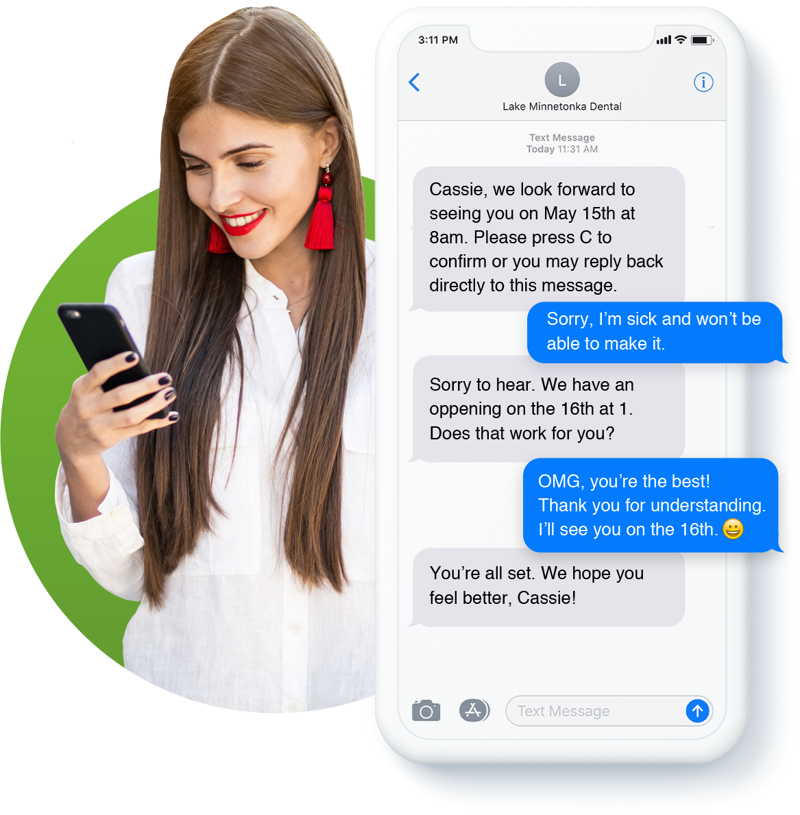 OperaDDS Secure Recall for Dentists with 2 Way Texting